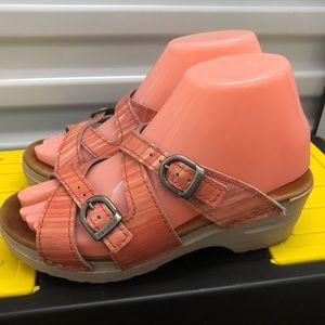 Dansko Pink Salman Slip On Wedge Sandals Size 6